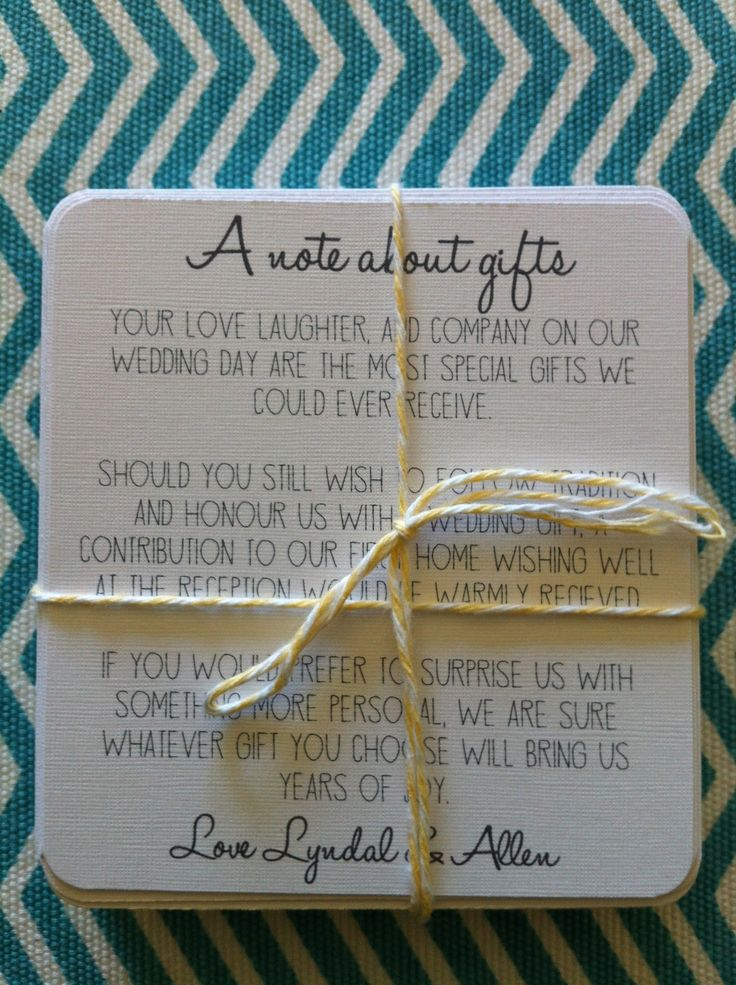 Wedding Gift List Rude : The ever so awkward and sometimes rude...Wishing well card! Forget the ...