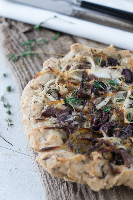Onion, Black Olive & Thyme Tart | Recipe