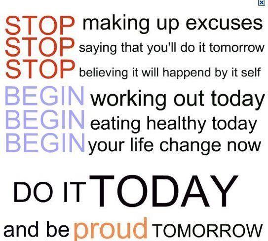 no excuses quotes pinterest
