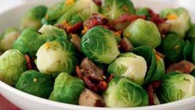 Brussels sprouts with bacon and chestnuts - SideDishes Meat | Recipe