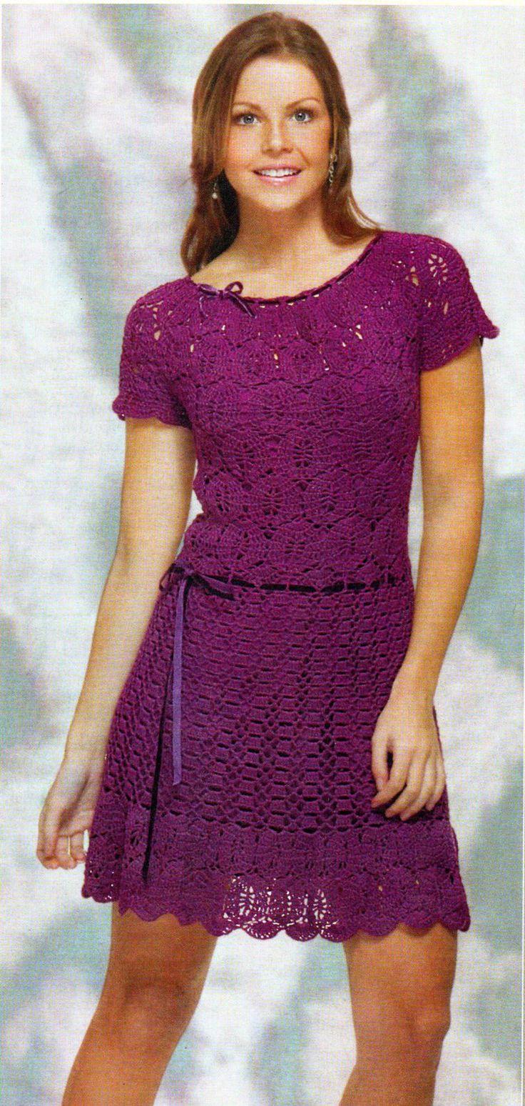 Фото крючком платья для женщин вязание