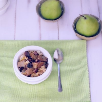 Over Night Tart Cherry and Pear Crisp by Simply Healthy Family