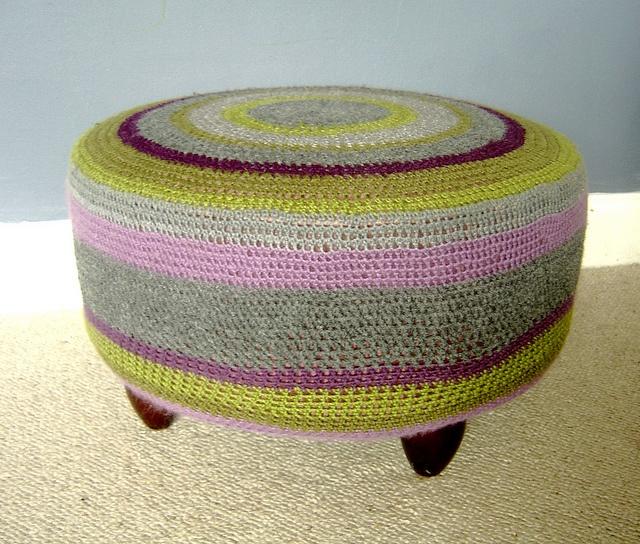 crochet ottoman Handwerken Pinterest