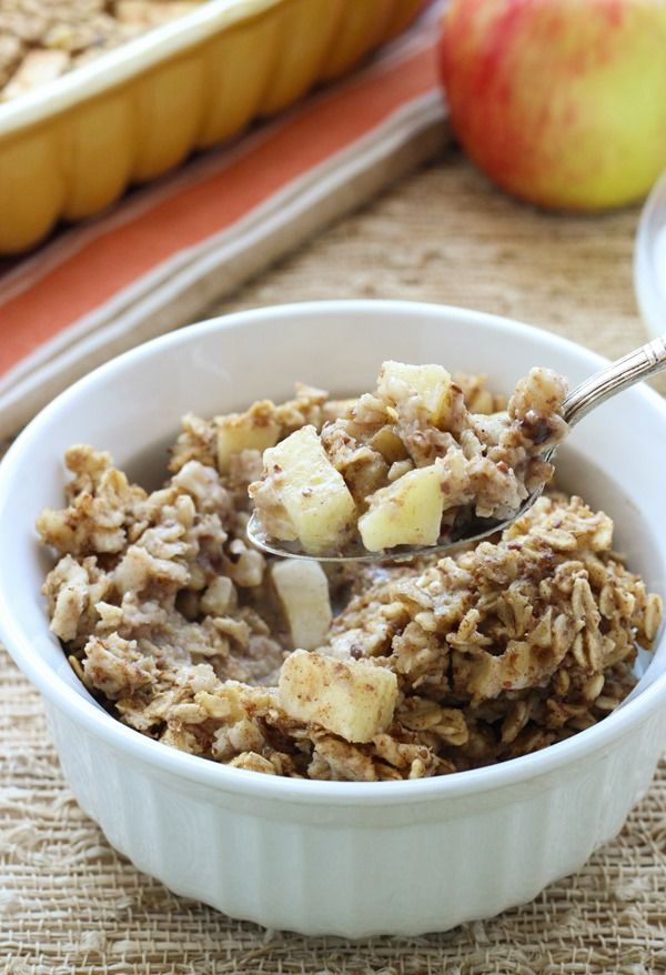 Vegan Baked Apple Cinnamon Oatmeal | Healthy...or at least healthier ...