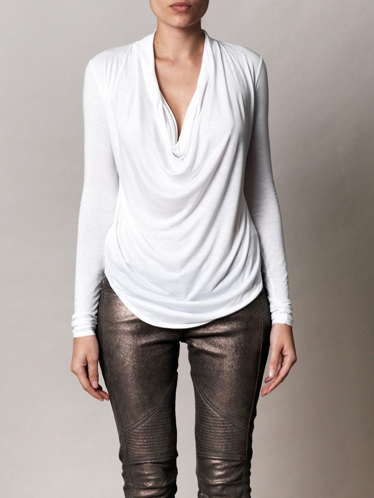 Kinetic cowl-neck top | Helmut | Matchesfashion.com