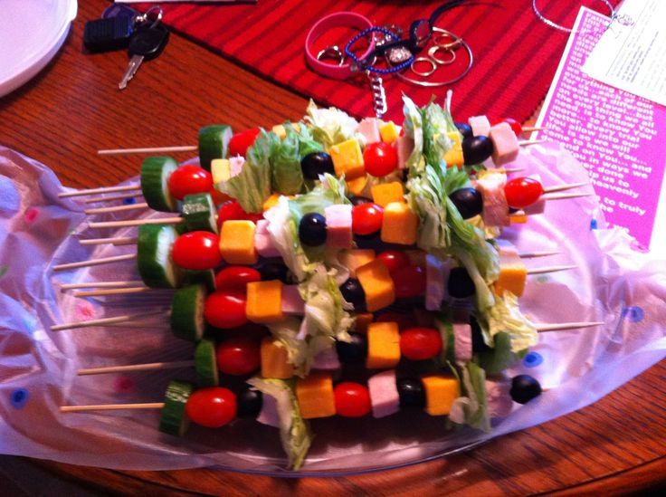 Salad kabobs | appetizers | Pinterest