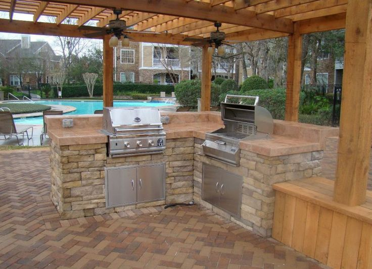 Outdoor kitchens and patio kits outdoor kitchen ideas for Stone outdoor kitchen designs