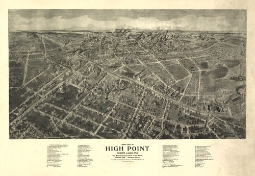 Historic Map High Point Nc 1913 Www
