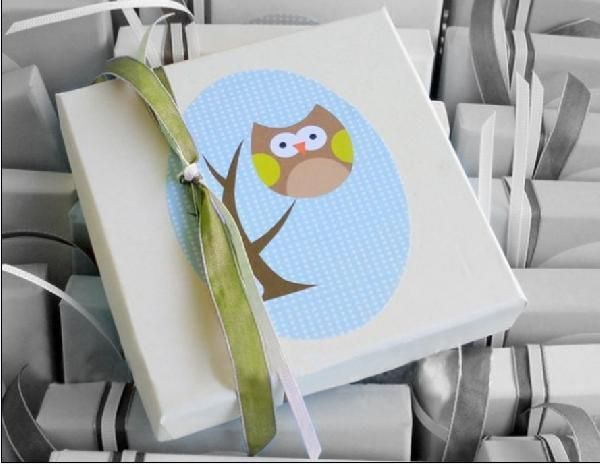 Μπομπονιέρα βάπτισης κουτί πλακέ με θέμα την κουκουβάγια μινιόν. http://www.mpomponieresvaptisis.gr