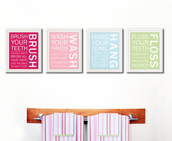 Kid Bathroom Wall Art DIY Pinterest