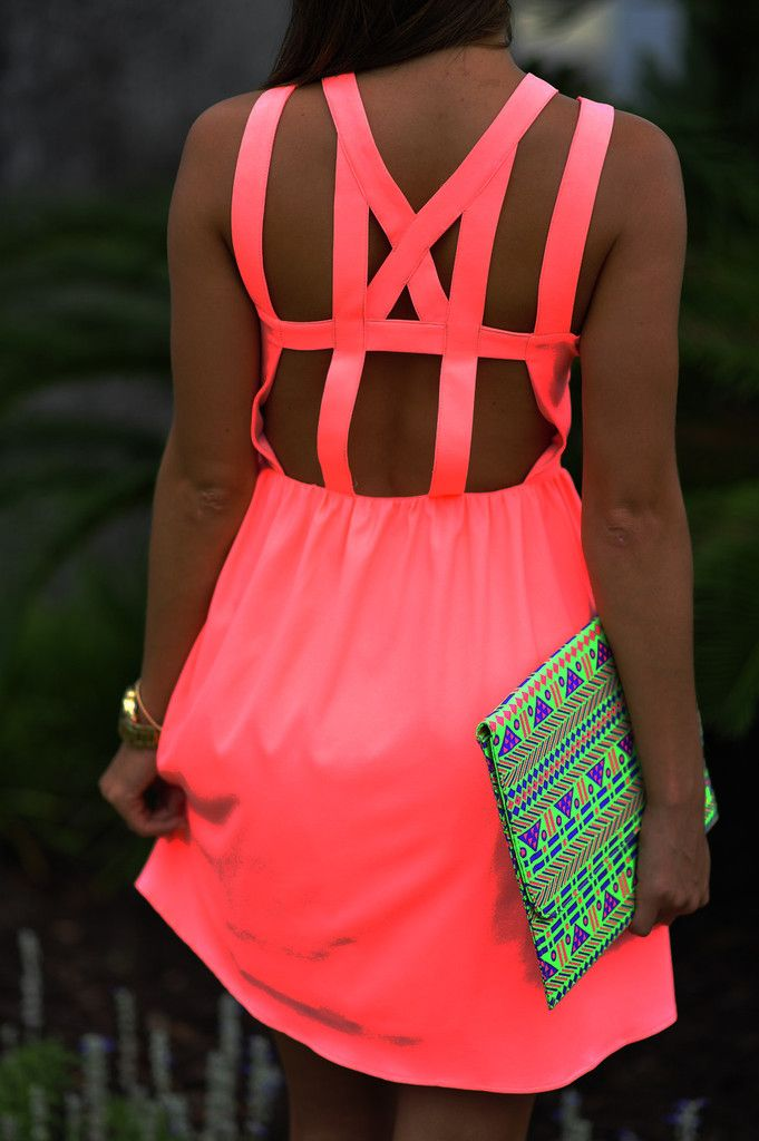handbags and bags Feeling So Lovely Dress Neon Pink  Summer