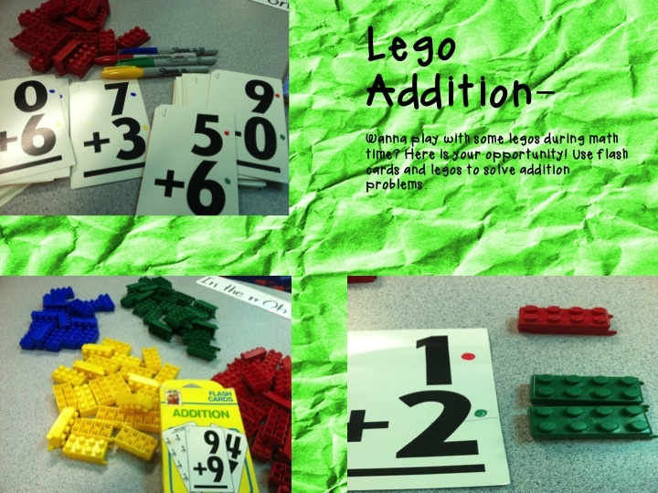 Kindergarten Lifestyle - Lego Addition math tub