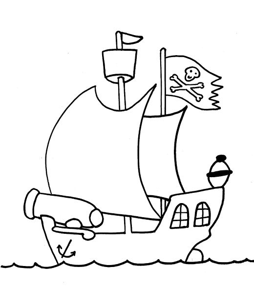cute pirate ship coloring pages