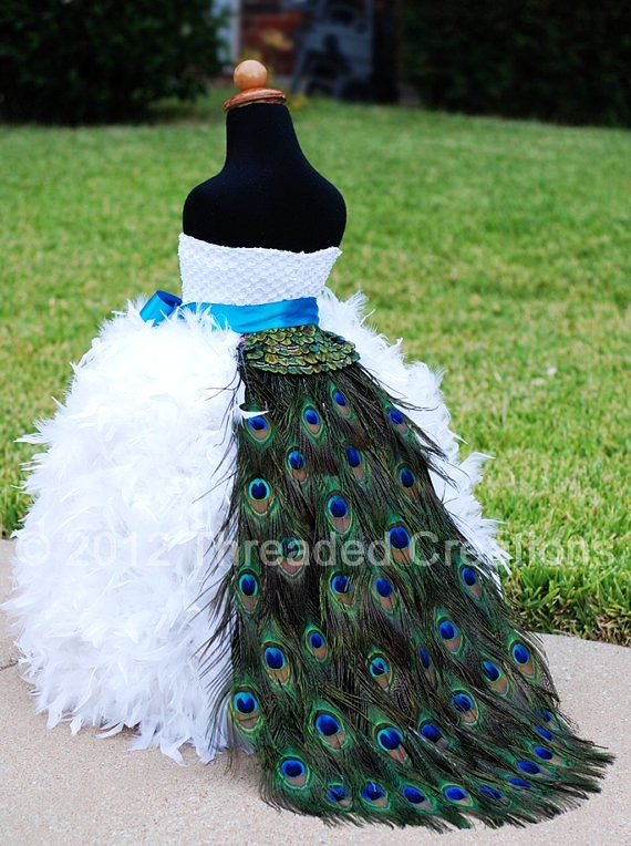 Peacock feather bustle tail peacock wedding peacock for Peacock feather wedding dress