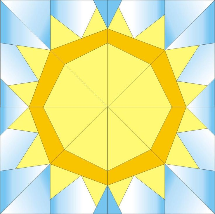 Sun paper piecing quilt block