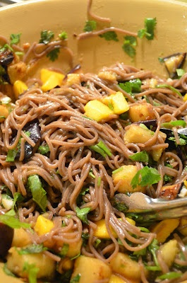 soba noodles with eggplant and mango. | amour fou(d) | Pinterest