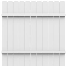 Freedom Pre Assembled White Dog Ear Privacy Vinyl Fence