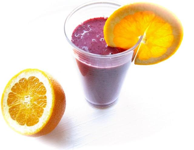 Orange Banana Berry Smoothie #smoothies