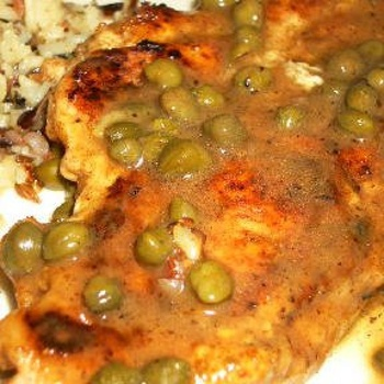 "Sauteed Chicken Cutlets with Sage & Capers ""South Beach Phase 1"""