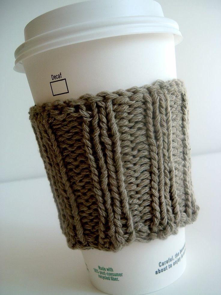 Coffee Sleeve Knitting Pattern! cute!