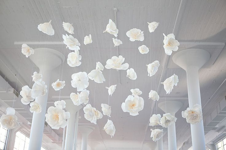 hanging flowers on fishing line wedding decor pinterest