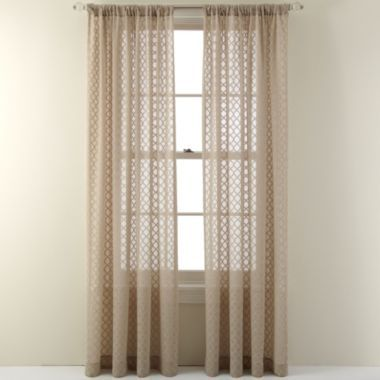 these burnout curtain panels look just like delicate moroccan fretwork