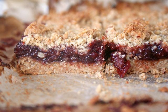 Jam Crumble Bars recipe, old fashioned oats along with some whole ...