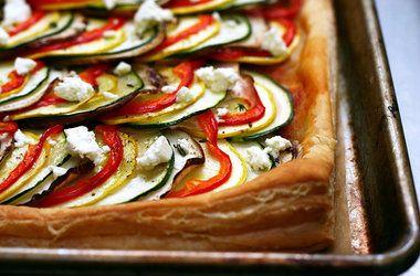 Ratatouille Tart | Someday I'll cook this | Pinterest