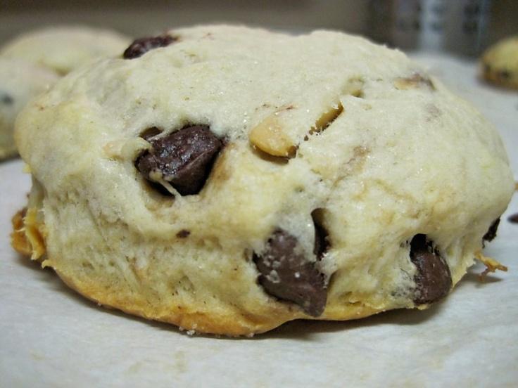 chocolate + coconut + almond = delicious scones.