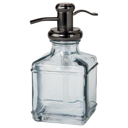 threshold antique glass soap dispenser