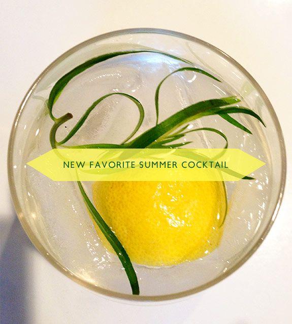tarragon lemon cocktail | Drink | Pinterest