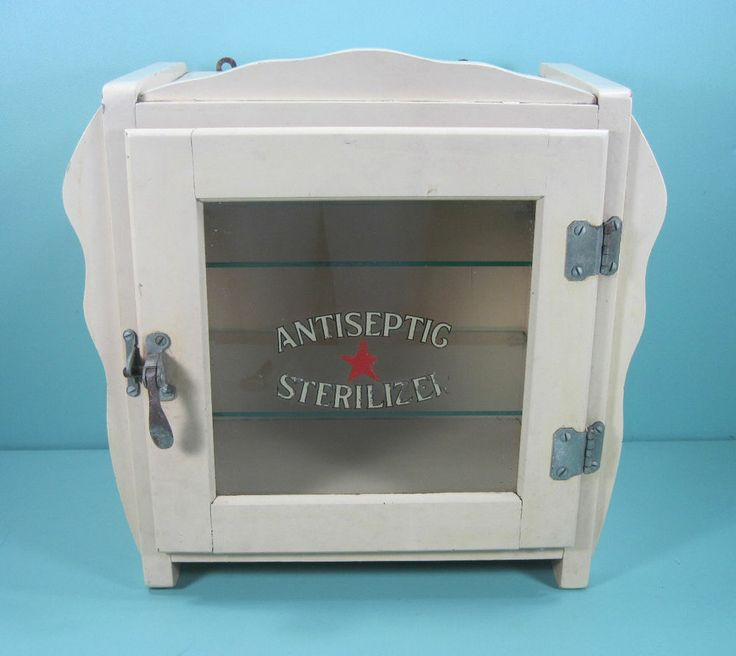 Barber Dentist : ... Antiseptic Sterlilizer Barber-Dentist-Doctor Wood & Glass Cabinet