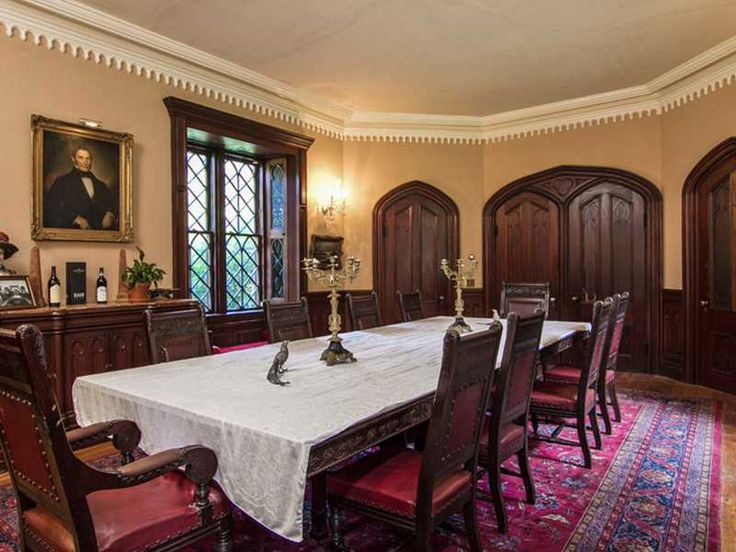 gothic style dining room newport ri architecturally speaking p