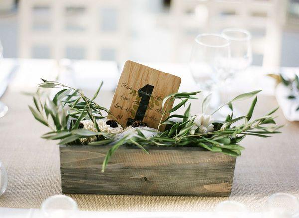 Wooden planter box for centerpieces wedded bliss pinterest