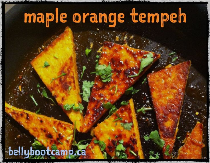 maple_orange_tempeh | Clean Eats | Pinterest