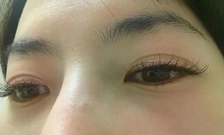 Eyelash Extensions In Brown 86
