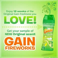 FREE Gain Fireworks Scent Booster Sample on http://www.icravefreebies.com/