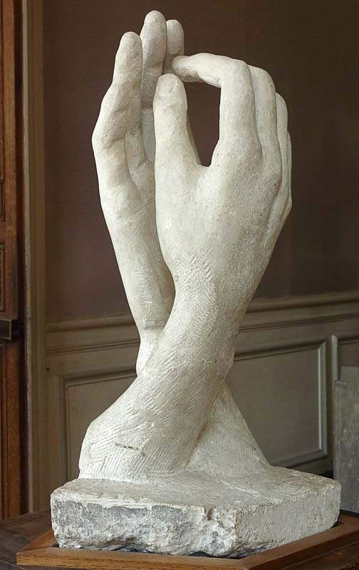 Auguste rodin la cathedral touching hands pinterest for Artiste creation