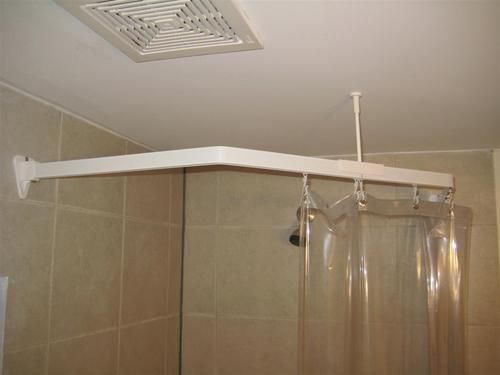 8Ft Tension Curtain Rod 45 Degree Shower Curtai