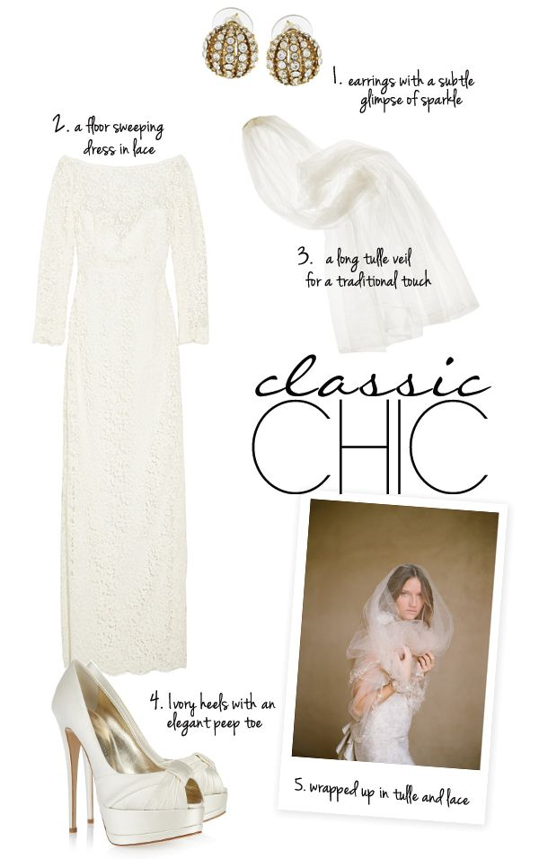Classic Chic Bridal Style from NET-A-PORTER