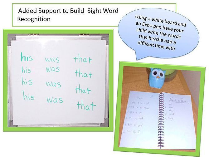 teach your child sight words
