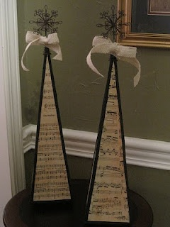 Music Sheet Christmas Trees