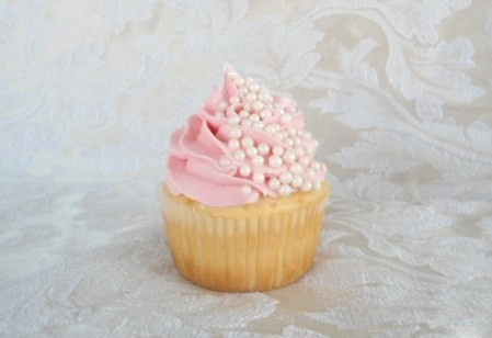 Pink Elegance - White cake with white chocolate truffle filling topped ...