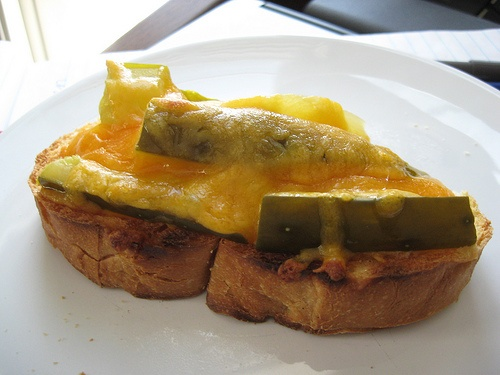 Grilled Cheese with Pickles - add french fries and it will be just ...