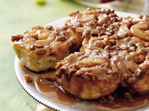 Enjoy these nutty caramel sticky rolls that are ready in just 35 ...
