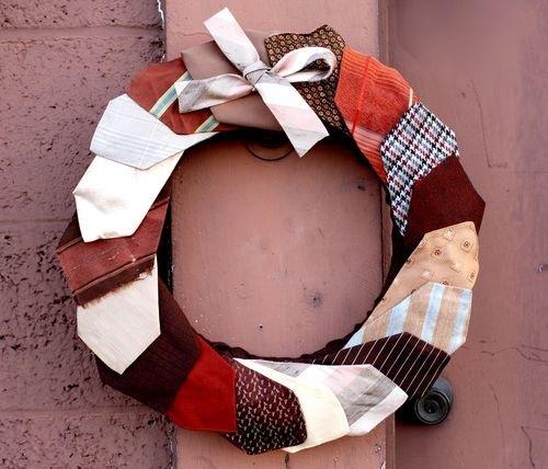 necktie crafts | Crafts / Vintage looking necktie wreath.