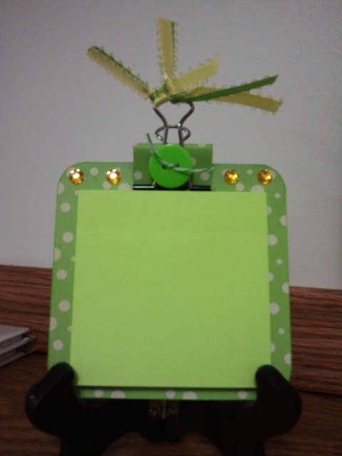 Post It Note Mini Clip Board  Lime Green by BNPCustomCreations, $1.50