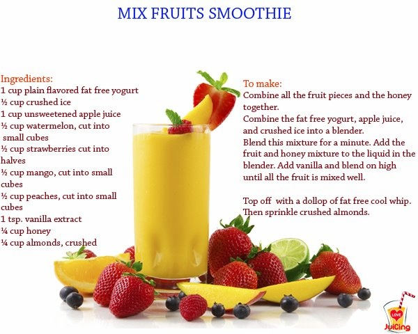 Mixed fruit smoothie | Raw - Best of juices, smoothies, icies, salads ...