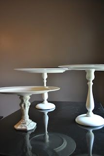 DIY cake stands ithoughtofitsecond.blogspot.com