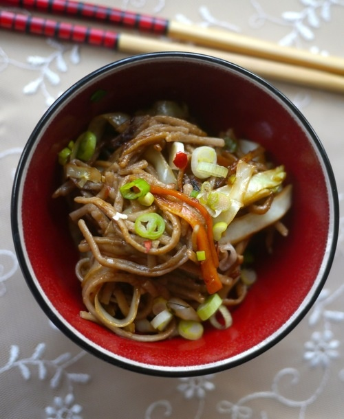 soy and ginger soba noodles with cabbage by @Victoria Brown Brown ...